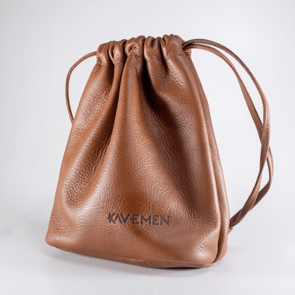 draw string bag kavemen leather